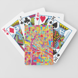 Colorful Las Vegas, Nevada Map Bicycle Playing Cards