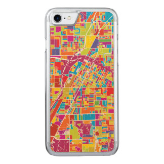 Colorful Las Vegas, Nevada Map Carved iPhone 8/7 Case