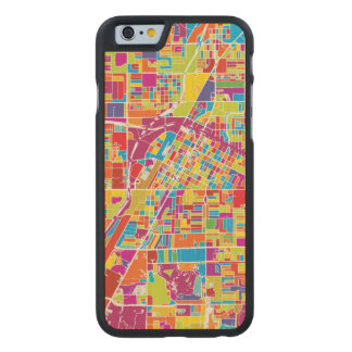 Colorful Las Vegas, Nevada Map Carved Maple iPhone 6 Case