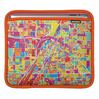Colorful Las Vegas, Nevada Map iPad Sleeve