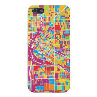 Colorful Las Vegas, Nevada Map iPhone 5/5S Case