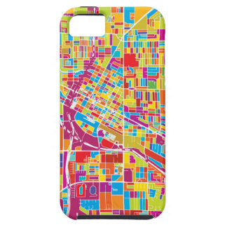 Colorful Las Vegas, Nevada Map iPhone 5 Cover