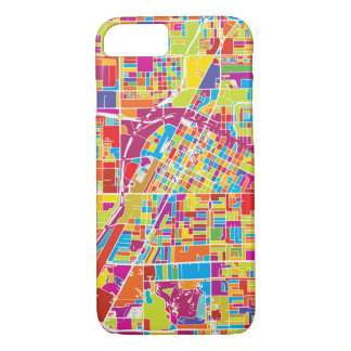 Colorful Las Vegas, Nevada Map iPhone 8/7 Case