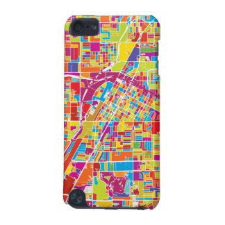 Colorful Las Vegas, Nevada Map iPod Touch 5G Covers