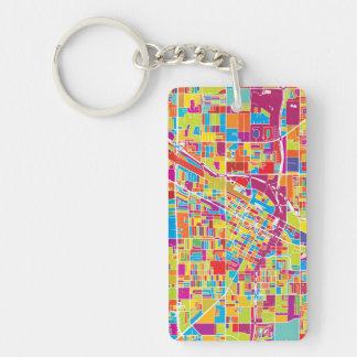 Colorful Las Vegas, Nevada Map Key Ring