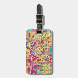 Colorful Las Vegas, Nevada Map Luggage Tag