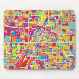 Colorful Las Vegas, Nevada Map Mouse Pad
