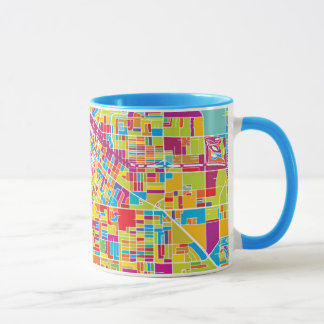 Colorful Las Vegas, Nevada Map Mug