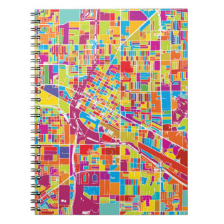 Colorful Las Vegas, Nevada Map Notebook