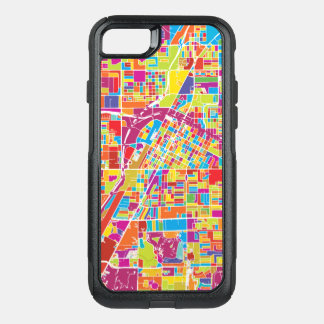 Colorful Las Vegas, Nevada Map OtterBox Commuter iPhone 8/7 Case