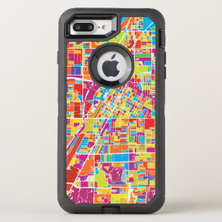 Colorful Las Vegas, Nevada Map OtterBox Defender iPhone 8 Plus/7 Plus Case
