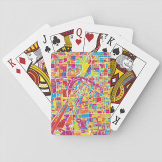Colorful Las Vegas, Nevada Map Playing Cards
