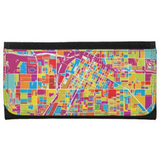 Colorful Las Vegas, Nevada Map Wallet