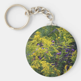 Colorful Late Summer Floral Keychain