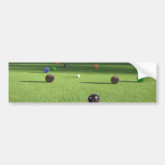 Colorful_Lawn_Bowls,_ Bumper Sticker