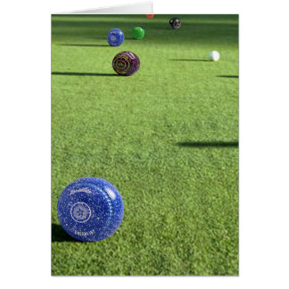 Colorful Lawn Bowls, Card