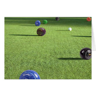 Colorful Lawn Bowls On The Green, Card