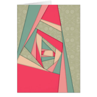 Colorful Layers Collage Greeting Card
