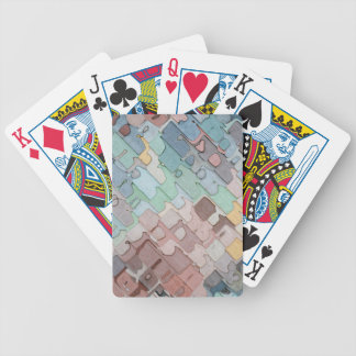 Colorful Layers Pattern Bicycle Playing Cards