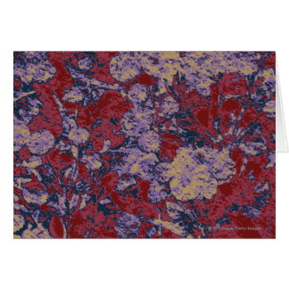 Colorful leaf and flower camouflage pattern card
