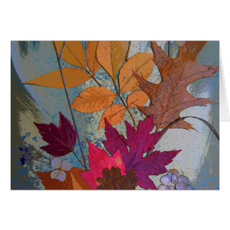 Colorful Leaf Collage Card