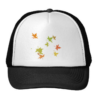Colorful leaf design trucker hats