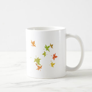 Colorful leaf design mugs