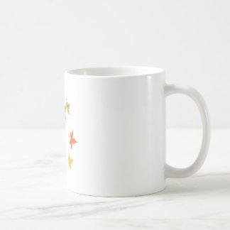 Colorful leaf design mug