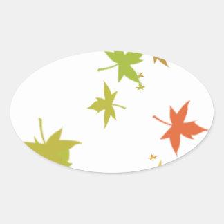 Colorful leaf design stickers
