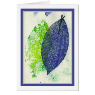 Colorful Leaf Imprints Card