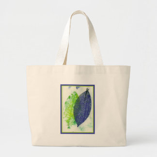 Colorful Leaf Imprints Jumbo Tote Bag