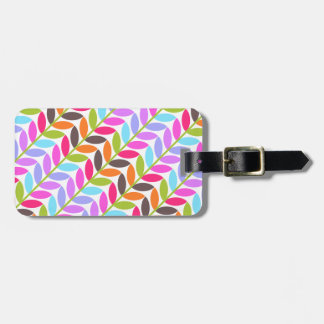 Colorful Leaf Nature Pattern Tags For Luggage