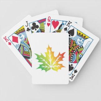 Colorful Leaf Poker Deck