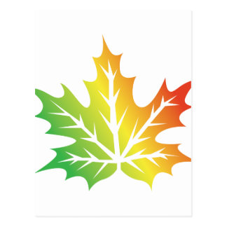 Colorful Leaf Postcard