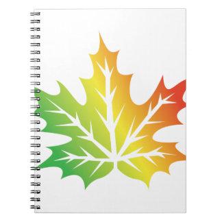Colorful Leaf Spiral Notebook