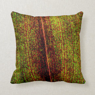 Colorful Leaf Texture Cushion
