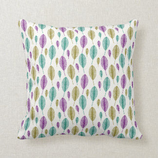 colorful leaf throw pillow
