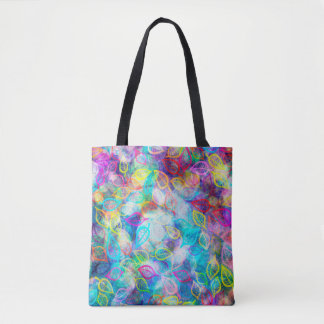 Colorful Leafs Pattern Tote Bag