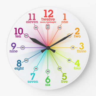 Colorful Learning Round Clocks