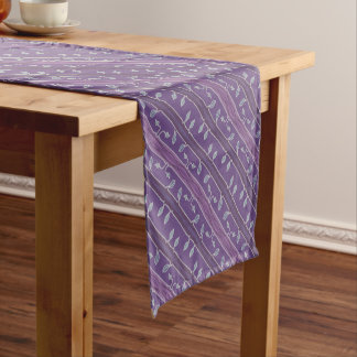 Colorful leaves and twiglets short table runner