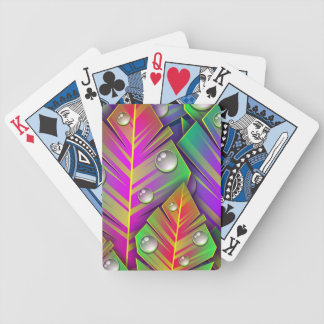 Colorful Leaves Bicycle Playing Cards
