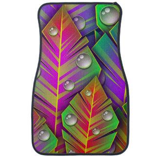 Colorful  leaves car mat