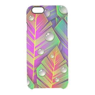 Colorful Leaves Clear iPhone 6/6S Case