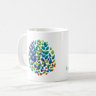 colorful leaves coffee mug