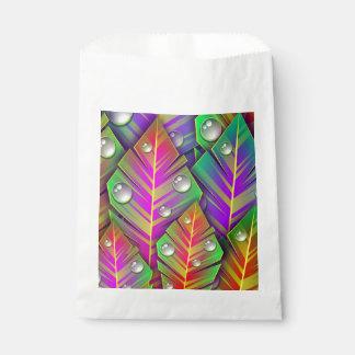 Colorful  leaves favour bag