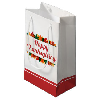 Colorful Leaves Happy Thanksgiving | Gift Bag