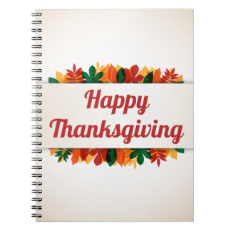 Colorful Leaves Happy Thanksgiving | Guest Book