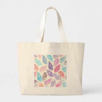Colorful leaves large tote bag