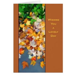 Colorful leaves of Fall Card