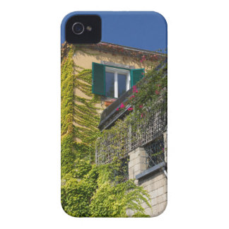 Colorful leaves on house iPhone 4 cover